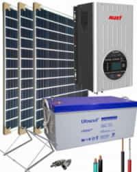 Kit Solar Aislada 1400W 12V 3000Whdia