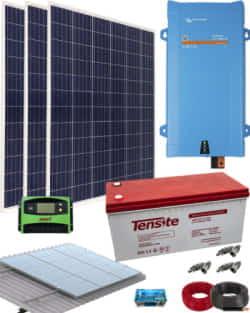 Kit Solar Aislada 1600VA 12V 3000Whdia