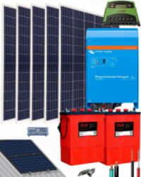 Kit Solar Aislada 1600W 12V 5000Whdia