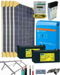 Kit Solar Aislada 1600W 24V 6100Whdia