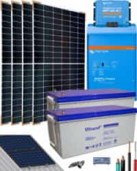 Kit Solar Aislada 1600W 24V 6400Whdia