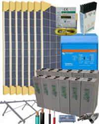 Kit Solar Aislada 3000W 24V 11200Whdia