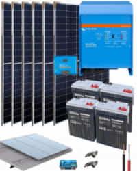 Kit Solar Aislada 3000W 24V 12800Whdia