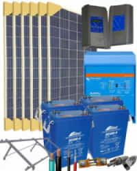 Kit Solar Aislada 3000W 24V 16000Whdia