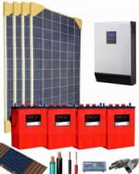 Kit Solar Aislada 3000W 24V 6100Whdia