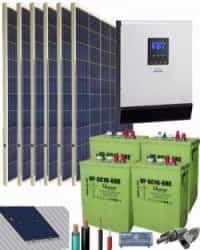Kit Solar Aislada 3000W 24V 7800Whdia