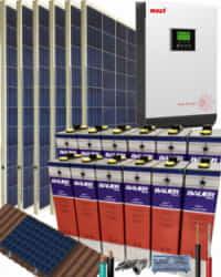 Kit Solar Aislada 3000W 24V 8100Whdia  con batería TOPzS