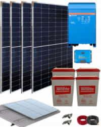 Kit Solar Aislada 3000W 24V 9000Whdia