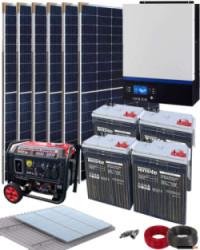 Kit Solar Aislada 3000W 24V 9600Whdia