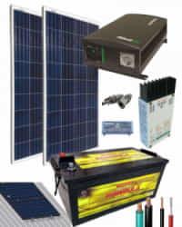 Kit Solar Aislada 700W 12V 1500Whdia