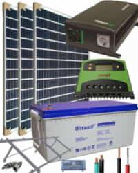 Kit Solar Aislada 700W 12V 3000Whdia