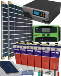 Kit Solar Aislada 800W 12V 2000Whdia  con batería TOPzS