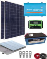 Kit Solar Aislada 800W 12V 2000Whdia