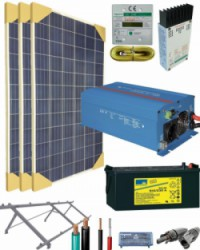 Kit Solar Autoconsumo Baterías 1200W 12V 2250Whdia