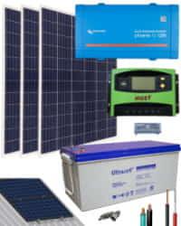 Kit Solar Autoconsumo Baterías 1200W 12V 3000Whdia