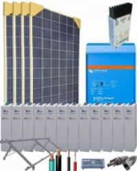 Kit Solar Autoconsumo Baterías 2000W 24V 6100Whdia