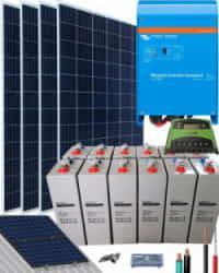 Kit Solar Autoconsumo Baterías 2000W 24V 6400Whdia
