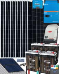 Kit Solar Autoconsumo Baterías 3000W 24V 23100Whdia