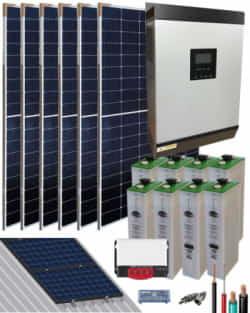 Kit Solar Autoconsumo Baterías 3000W 24V 9600Whdia