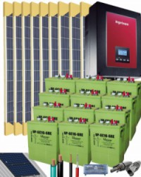 Kit Solar Autoconsumo Baterías 3000W 72V 16775Whdia