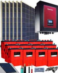 Kit Solar Autoconsumo Baterías 3000W 72V 18900Whdia