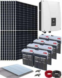 Kit Solar Autoconsumo Baterías 3000W 84V 16500Whdia