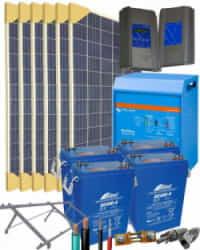 Kit Solar Autoconsumo Baterías 5000W 24V 19200Whdia