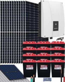 Kit Solar Autoconsumo Baterías 6000W 108V 35200Whdia