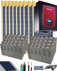 Kit Solar Autoconsumo Baterías 6000W 108V 48000Whdia