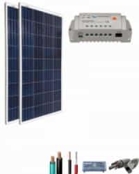 Kit Solar Caravana 12V 1500Whdia  con regulador de 20A