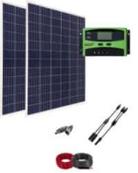 Kit Solar Caravana 12V 2000Whdia con regulador de 30A
