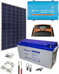 Kit Solar Caravana 800W 12V 1000Whdia  con Batería de Gel