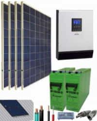 Kit Solar Casa Campo 3000W 24V 6100Whdia