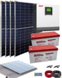 Kit Solar Casa de Campo 3000W 24V 6600Whdia