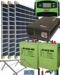 Kit Solar Completo 1400W 12V 3000Whdia