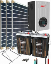 Kit Solar Completo 1500W 12V 3000Whdia