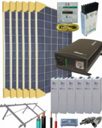 Kit Solar Completo 2000W 12V 4500Whdia
