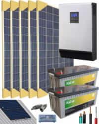 Kit Solar Completo 3000W 24V 8000Whdia