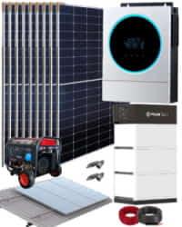 Kit Solar Completo 5000W 48V 13500Whdia con generador