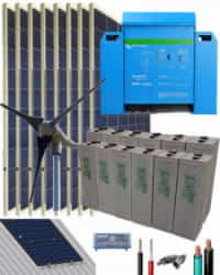 Kit Solar Eólico 3000W 24V 10800Whdia