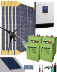 Kit Solar Eólico 3000W 24V 7625Whdia