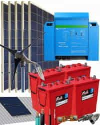 Kit Solar Eólico 3000W 24V 7800Whdia