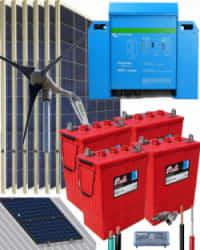 Kit Solar Eólico 3000W 24V 8000Whdia