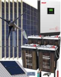 Kit Solar Eólico 3000W 24V 8100Whdia