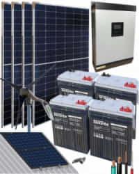 Kit Solar Eólico 3000W 24V 9000Whdia