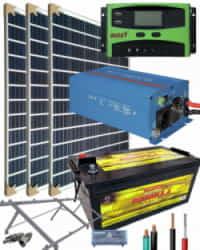 Kit Solar Fotovoltaico 1000W 12V 3000Whdia