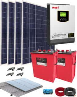 Kit Solar Fotovoltaico 1000W 12V 4000Whdia
