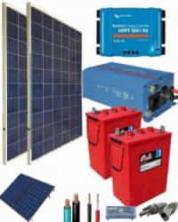 Kit Solar Fotovoltaico 1200W 12V 2600Whdia