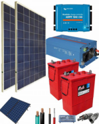 Kit Solar Fotovoltaico 1200W 12V 2700Whdia
