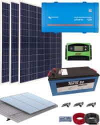 Kit Solar Fotovoltaico 1200W 12V 3000Whdia